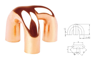 Copper Tripod Bend